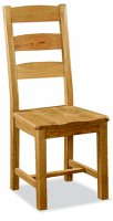 G2143 SLATTED CHAIR WITH WOODEN SEAT