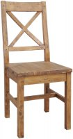 CRD-003/T Camrose Reclaimed Chair with Wooden Seat
