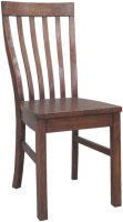 Driftwood Reclaimed Pine Dining Chair with Wooden Seat