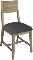 SRD-011C Sorrento Reclaimed Chair with Fabric Seat