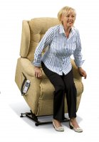 Lynton Standard 1-motor Electric Lift Recliner - Dark Beech Knuckles