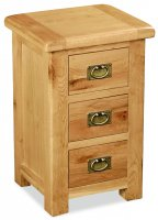 Clumber 3 Drawer Bedside