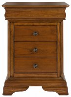 Willis & Gambier Louis Philippe 3Drw Bedside