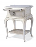 Ivory 1 Drawer Bedside Chest