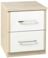 Azure 2 Drawer Bedside Chest