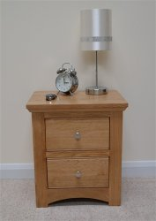 KNIGHTSBRIDGE 2 DRAWER BEDSIDE CHEST