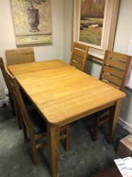 Clemence Richards Moreno Dining Table & 4 Chairs