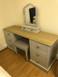 Kingstown Sophie Dressing Table,Mirror & Stool
