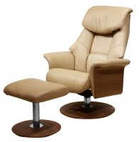 Zedere Vincent Recliner Chair & Stool