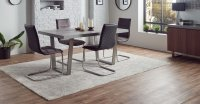 Nevis 160cm Dining Table & 4 Marta Dining Chairs **Special Set Price**
