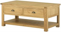 PPCTD-O Portland Coffee Table with Drawers - oak