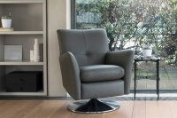 Swivel / Rocker Chair With Brushed Chrome Base