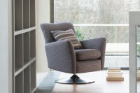 Swivel Chair with Brushed Chrome Base