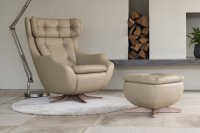 Statesman Swivel Chair with wooden Base