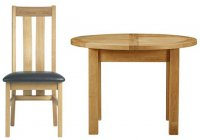 Charltons Bretange B105 Round Dining Table & Four Chairs