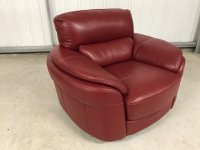 Edale Leather Swivel Chair