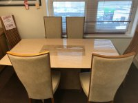 Stephanie Marble Table & 4 Chairs