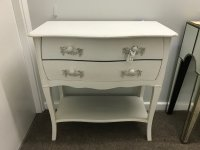 Painted White Console Table