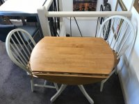 Brecon Round Dropleaf Table & 2 Chairs