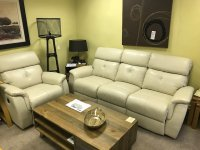 HATHERSAGE MANUAL RECLINER LARGE SOFA &  POWER RECLINER CHAIR