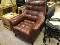 THE HOPE LEATHER ACCENT CHAIR.