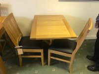 BURLINGTON GATELEG TABLE & 2 XENTA CHAIRS