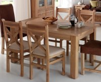 Tuscany Large Dining Table (Fsc 100%) & 4 Chairs