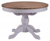 Georgia Painted Round Pedestal Dining Table