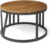 BVRCTL Boston large coffee table with iron frame