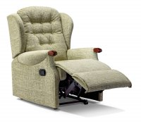 Lynton Small Powered Recliner - Dark Beech Knuckles