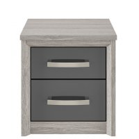 Cosmos Oak & Graphite 2 Drawer Chest