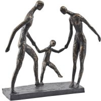 Antique Bronze Family Of Three
