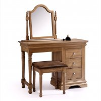 Chambra Dressing Table with Mirror & Stool