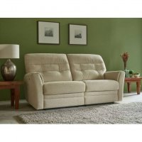 Skye Manual Recliner Sofa in Fabric