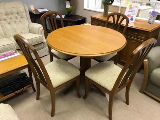 Sutcliffe Round Dining Table & 4 Chairs