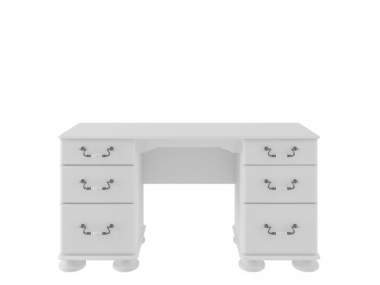Signature Antique Cream Double Pedestal Dressing Table