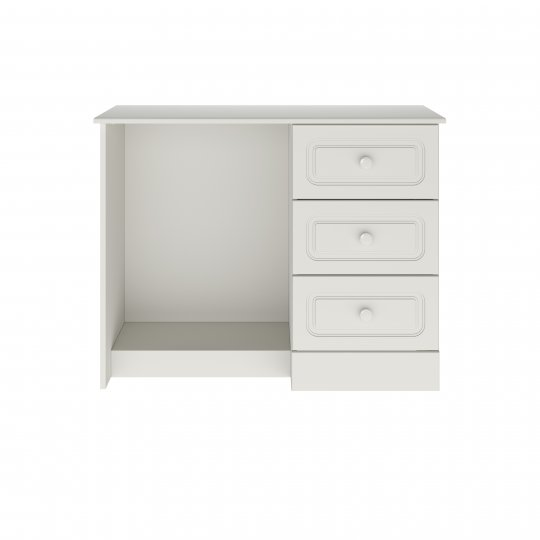 Aylesbury Matt White Single Pedestal Dressing Table