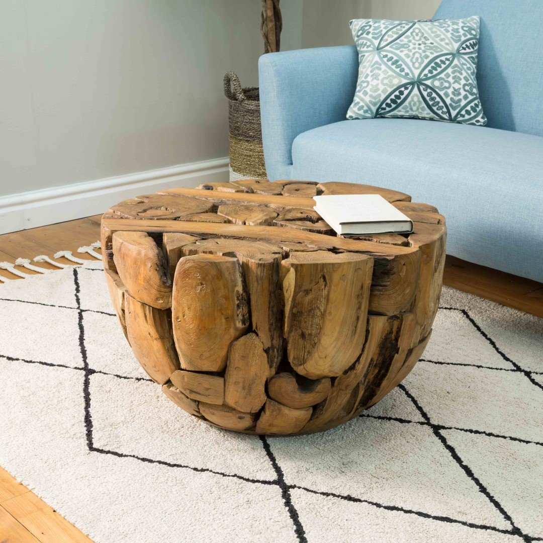 Natural Teak Roothalf Ball Coffee Table Eyres Furniture