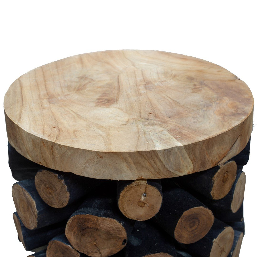 Natural Teak Branch Pineapple Stool Eyres Furniture