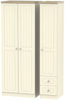 Vienna Tall Triple Plain + Drawer Robe