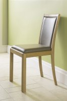 Stockholm Faux Leather Taupe Dining Chair