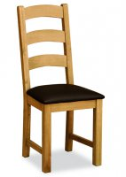 Holbeck Ladder Back Chair - Brown PU