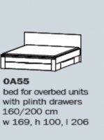 "Rivera 0A55 5'0"" Bed With Drawers"