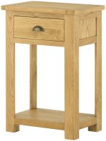 Portland 1 Drawer Console Table - oak