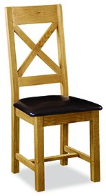 Clumber Cross Back Chair with PU Seat