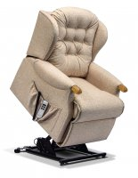 Lynton Petite 2-motor Electric Lift Recliner - Dark Beech Knuckles
