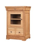 Moreno 2 Drawer CD/DVD Unit with Glass Doors