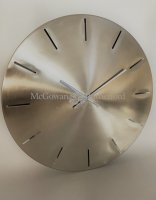 Large Brushed Steel Wall Clock