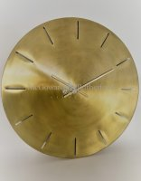 Large Brushed Brass Wall Clock