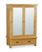 Clumber Wide Mirror Wardrobe